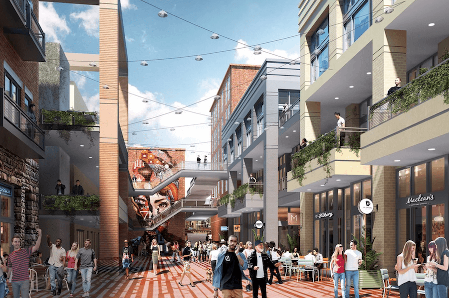 Rendering of Kenny's Alley at Underground Atlanta