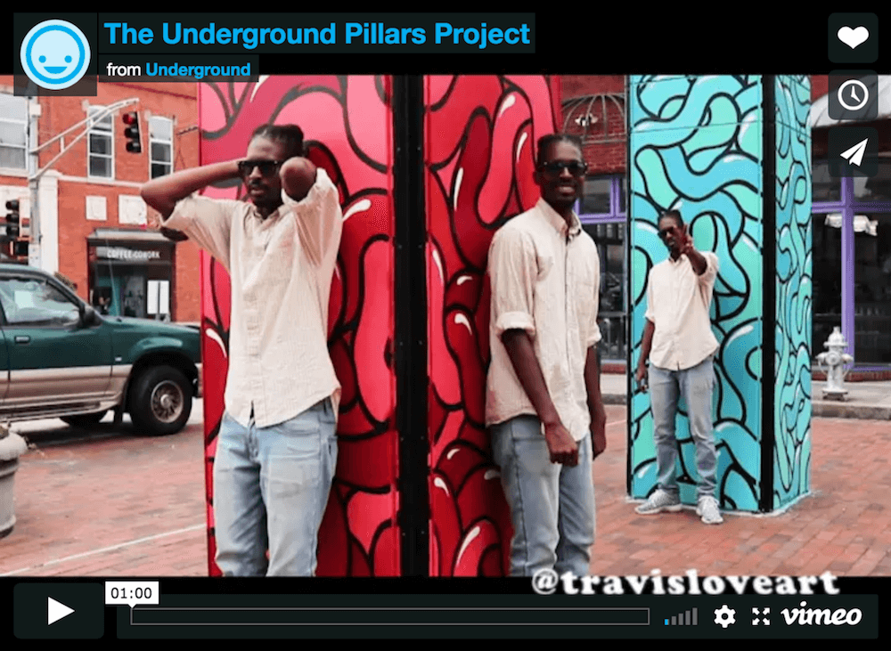 Video: Local artists design murals for Underground