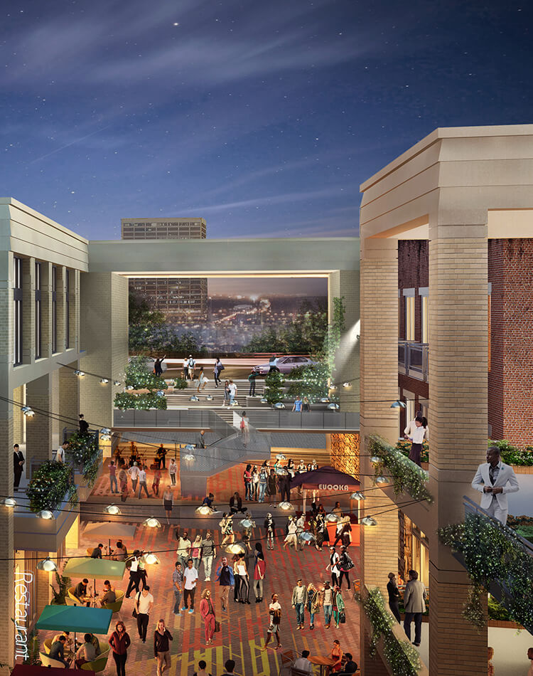 Rendering of Underground Atlanta